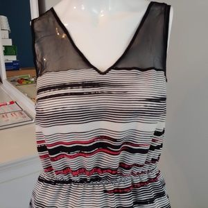 Petticoat Alley Dresses - Womens XS Petticoat Alley dress sleeveless striped